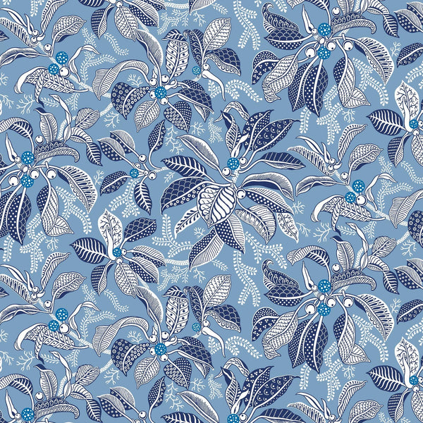 Fig Indigo Wallpaper