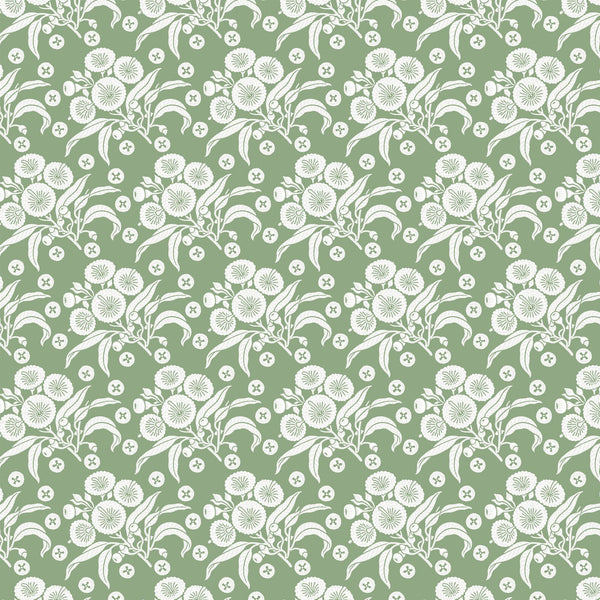 Native Posy Green Wallpaper