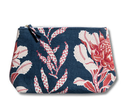 Imperial Waratah Indigo Wash Bag