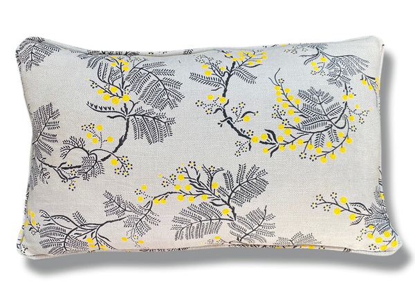 Wattle Grey Linen Cushion Cover - 30 x 50