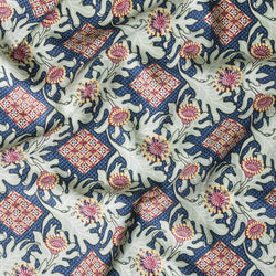 *Firewheel Trellis Royal Furnishing Linen