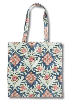 Firewheel Trellis Royal Tote Bag