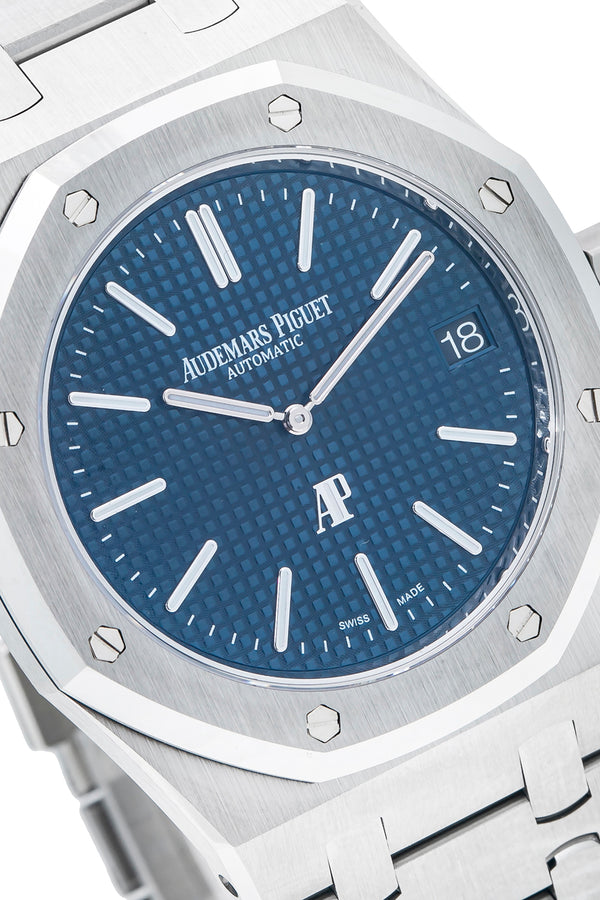Audemars Piguet Royal Oak Stainless Steel with Jumbo Ultra-Thin Blue Dial (Ref#15202ST.OO.1240ST.01)