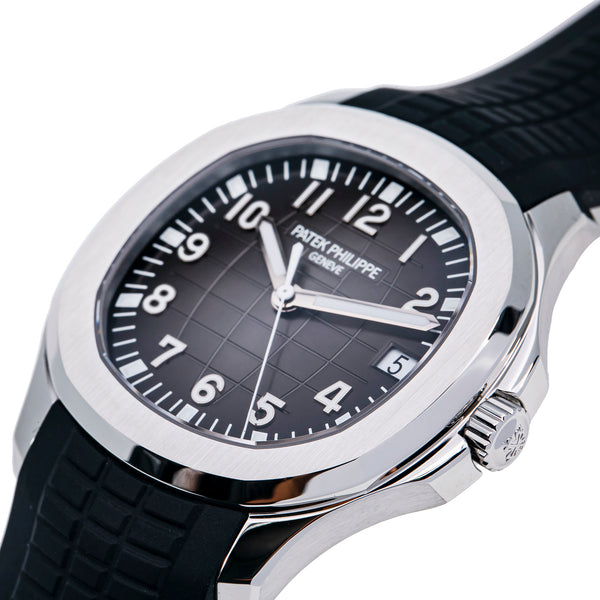 Aquanaut Stainless Steel/ Black Embossed Dial (Ref#5167A-001)