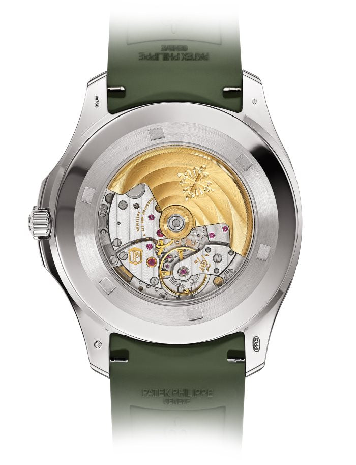 Aquanaut/ White Gold/ Khaki Green Embossed Dial (Ref#5168G-010)