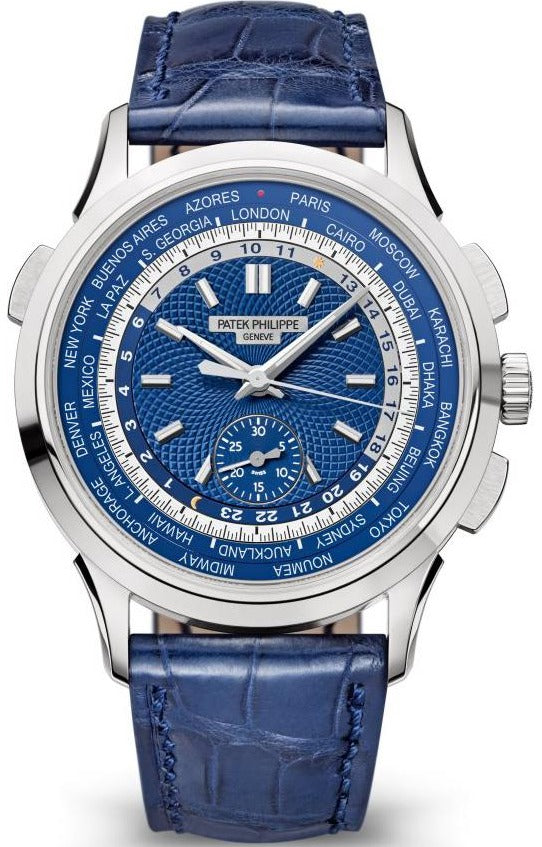 Patek Philippe World Time Complicated Chronograph White Gold/ Blue Dial (Ref#5930G-001)