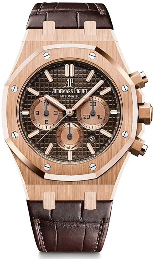 Audemars Piguet Royal Oak Chronograph Rose Gold Chocolate Dial (Ref#26331OR.OO.D821CR.01)