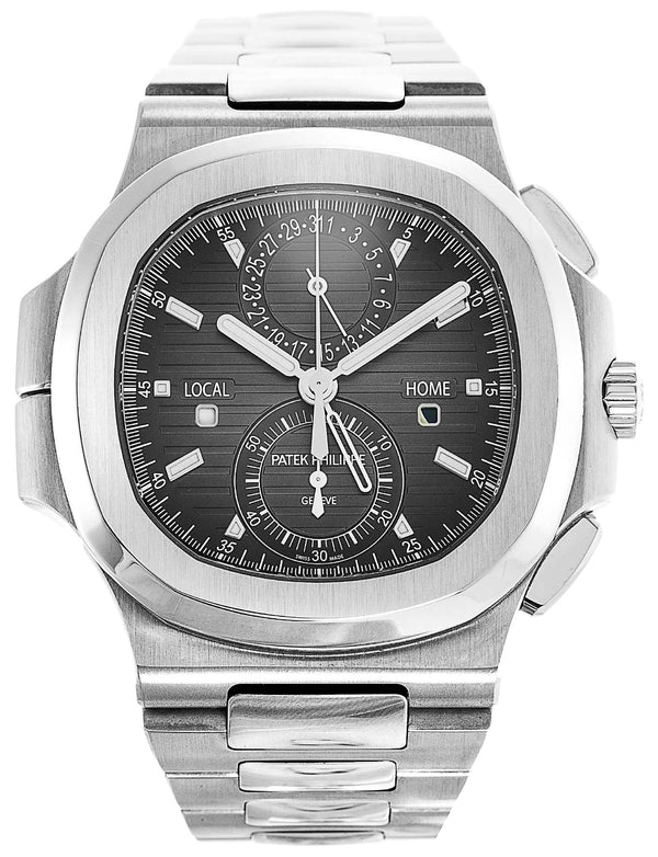 Nautilus Chronograph/ Stainless Steel/ Black Dial (Ref#5990/1A-001)