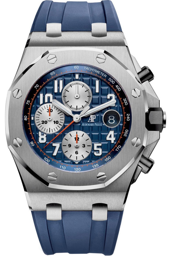 Royal Oak Offshore Selfwinding Chronograph/ Stainless Steel/ Blue Dial/ Silver Sub-Dials (Ref#26470ST.OO.A027CA.01)