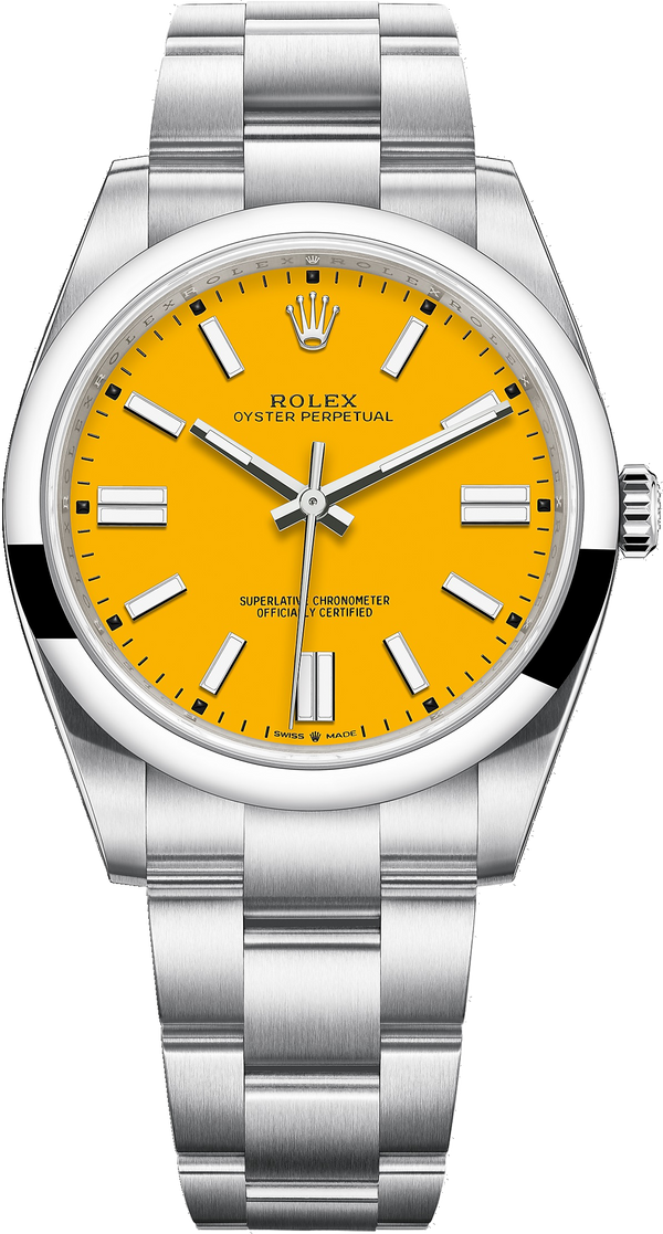 Oyster Perpetual 41 Stainless Steel/ Sunflower Yellow Dial/ Oyster Bracelet (Ref#124300)
