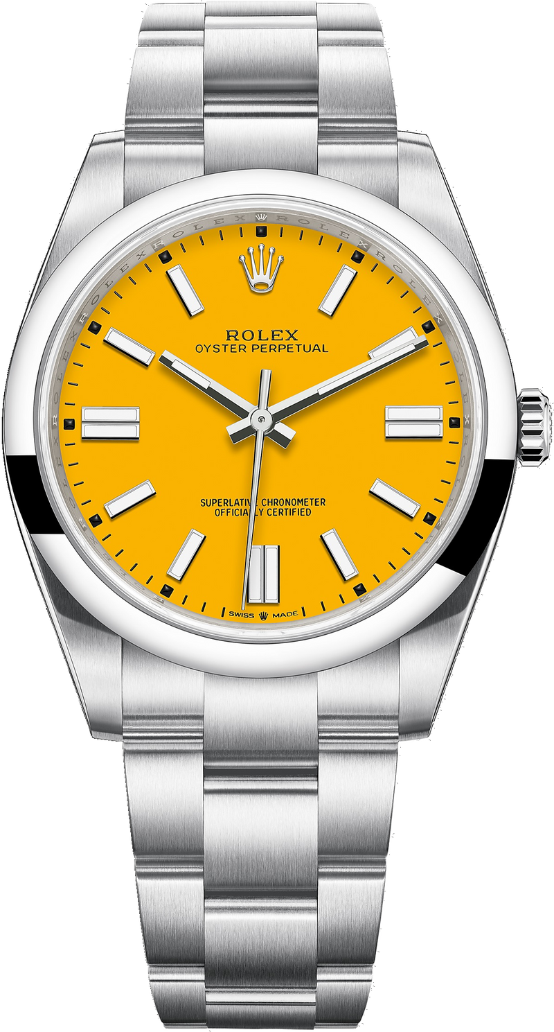 Oyster Perpetual 41/ Sunflower Yellow Dial (Ref#124300)