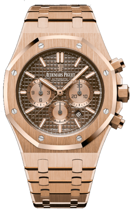Audemars Piguet Royal Oak Chronograph 18K Rose Gold Brown Dial (Ref#26331OR.OO.1220OR.02)