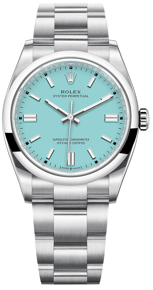 Oyster Perpetual 41 Stainless Steel/ Turquoise Dial/ Oyster Bracelet (Ref#124300)