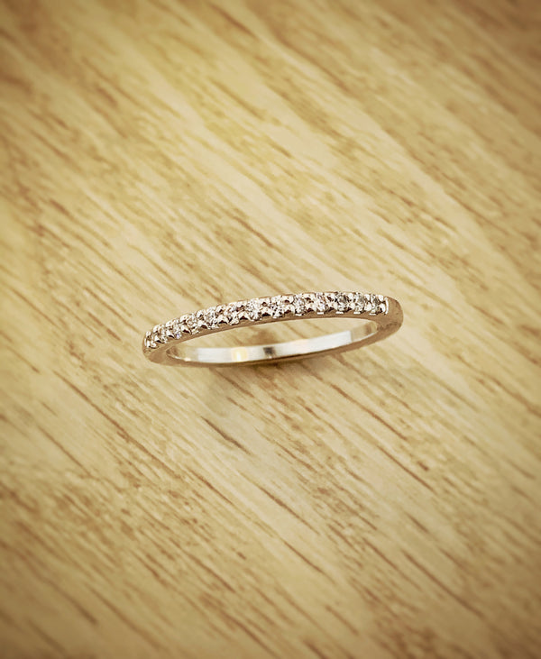 14k White Gold .25ctw Ideal Cut Diamond Anniversary Band