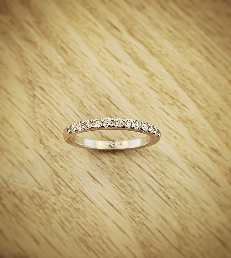 14k White Gold .33ctw Diamond Anniversary Band