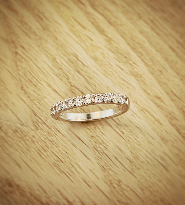 14k White Gold .50ctw Ideal Cut Diamond Anniversary Band