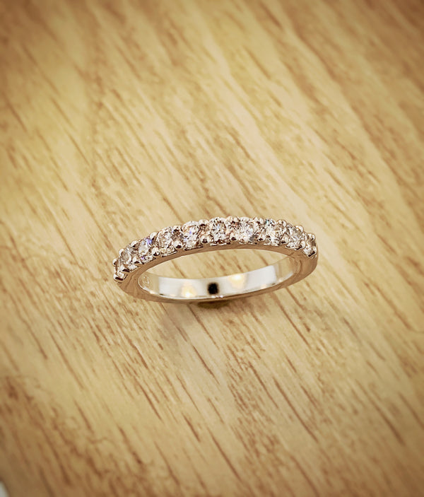 14k white gold .75ctw ideal cut Diamond anniversary band