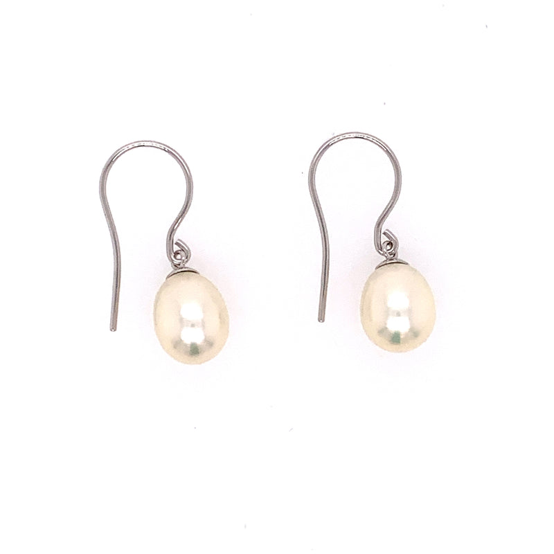 14KW Pearl Fishhook Earrings