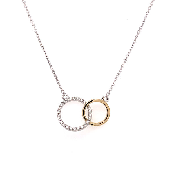 14K TT Diamond Necklace