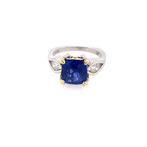 14K TT Sapphire and Diamond Ring