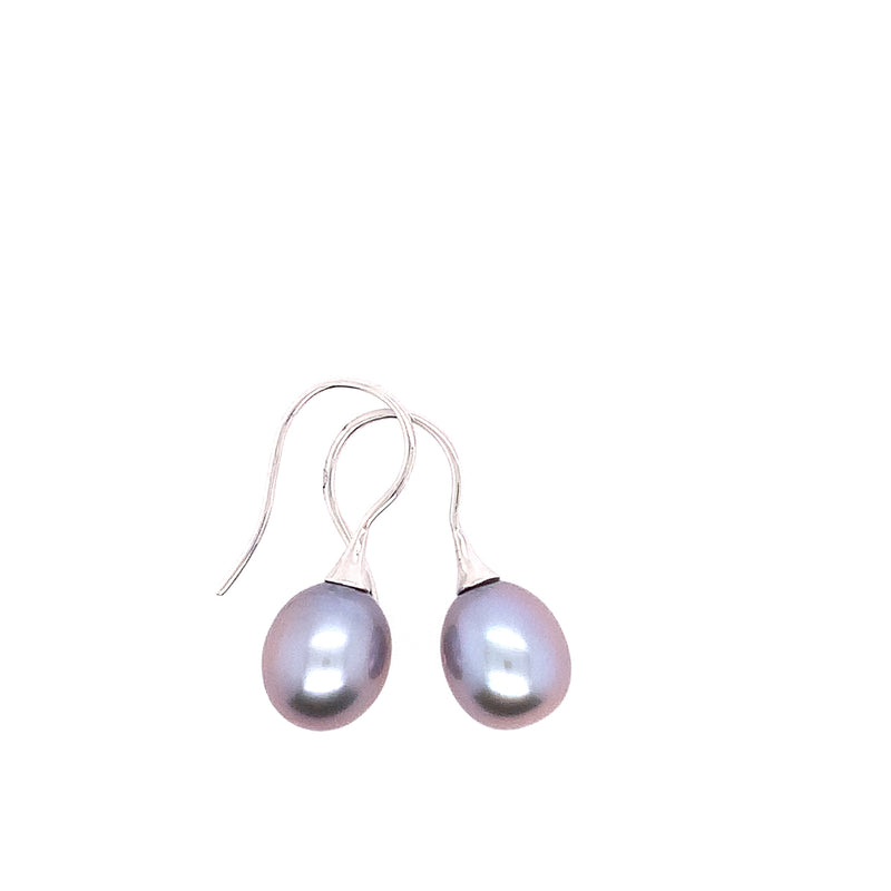 14KW Pearl Dangle Earrings