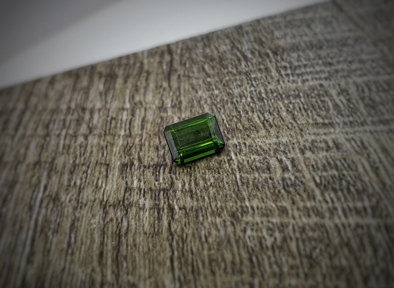 8x6mm Emerald Cut Green Tourmaline