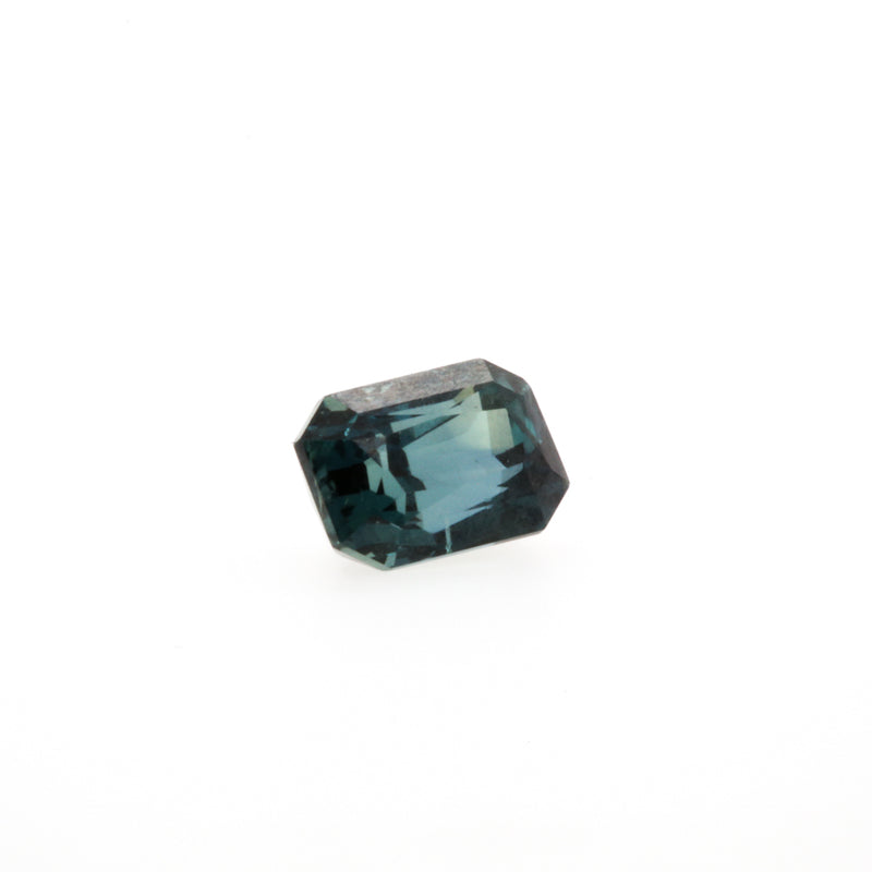 Sapphire, Green Color Change 1.66ct Emerald Cut