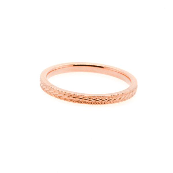 14KR Patterned Stackable Band