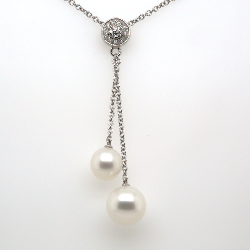 14KW Pearl and Diamond Necklace
