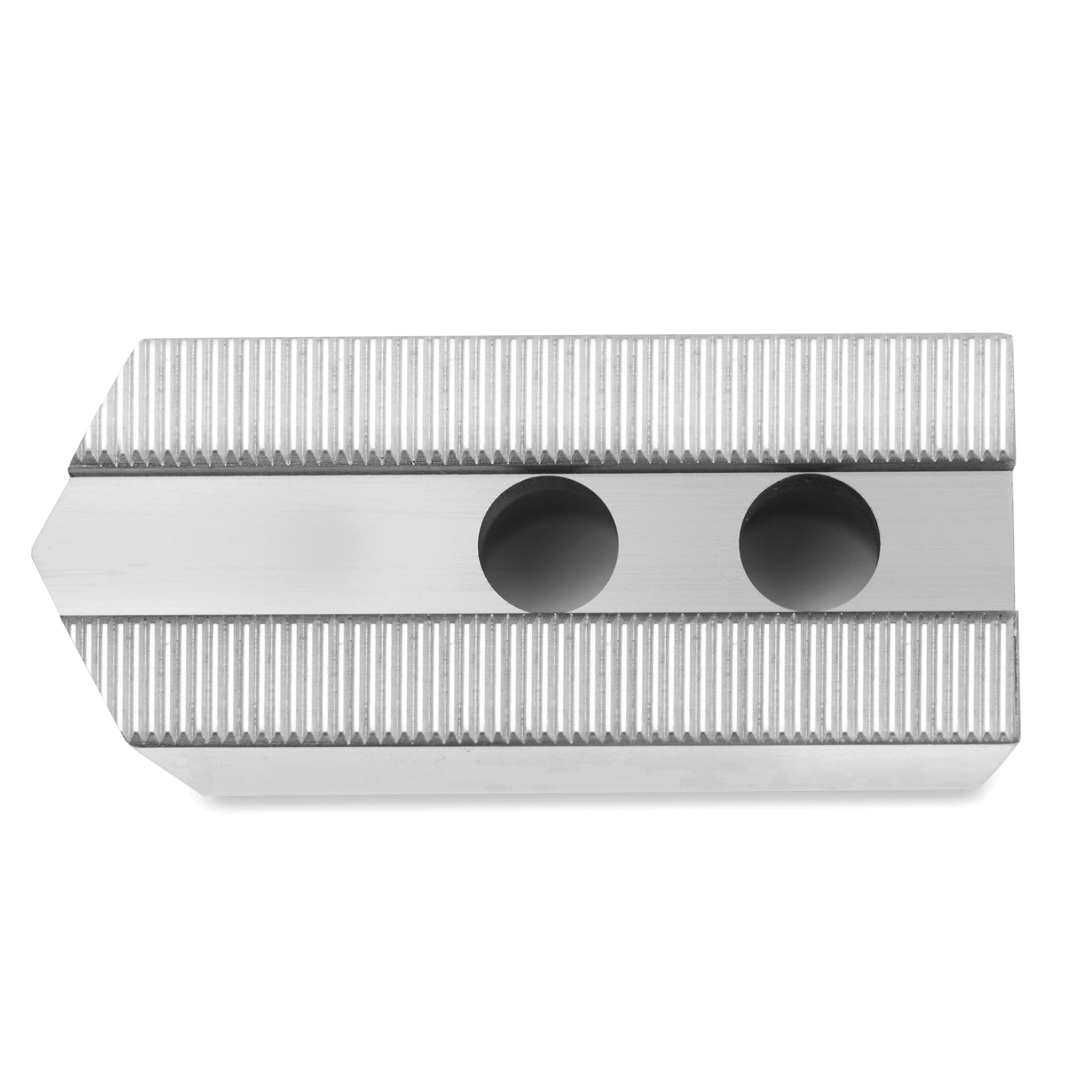 """2.0/"""" HT 10/"""" Steel Soft Jaws 1.5mm x 60° Serrated for B-210 Type Chucks POINTED"""