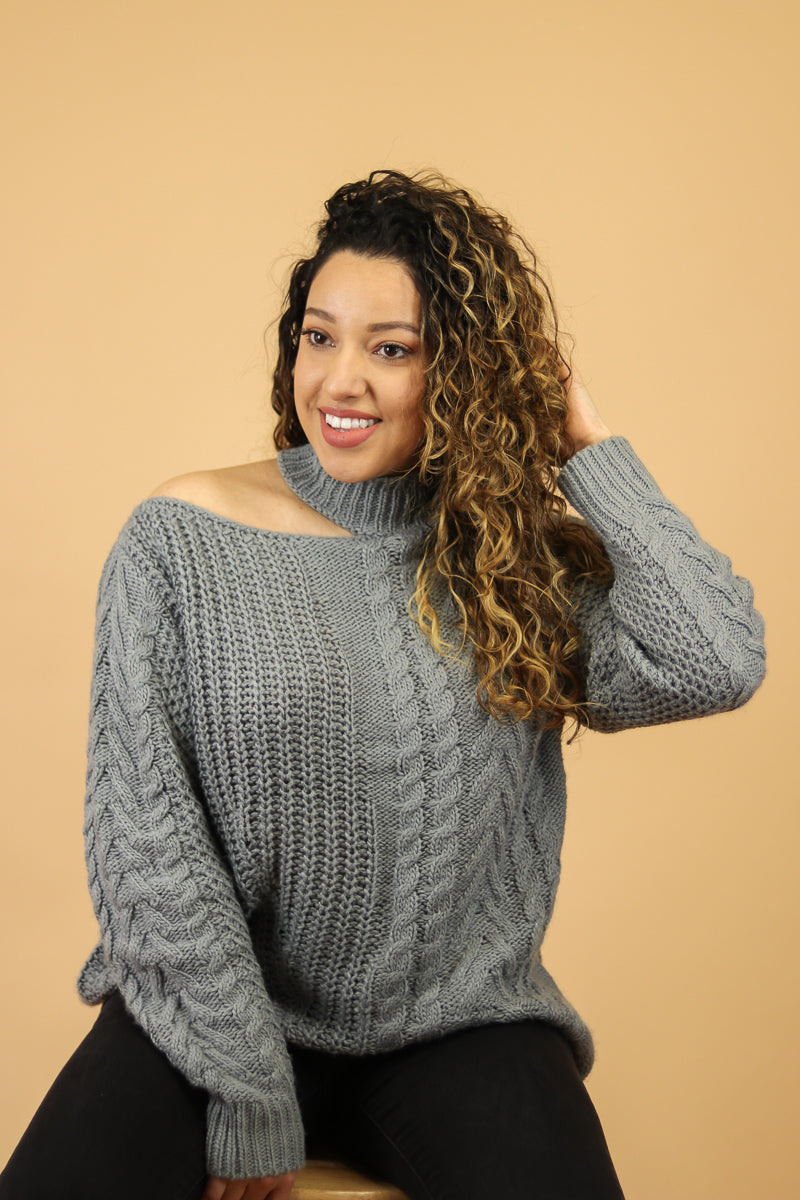Peekaboo Cable Knit Sweater