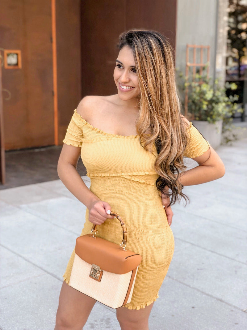 Weekend In Miami Off The Shoulder Dress