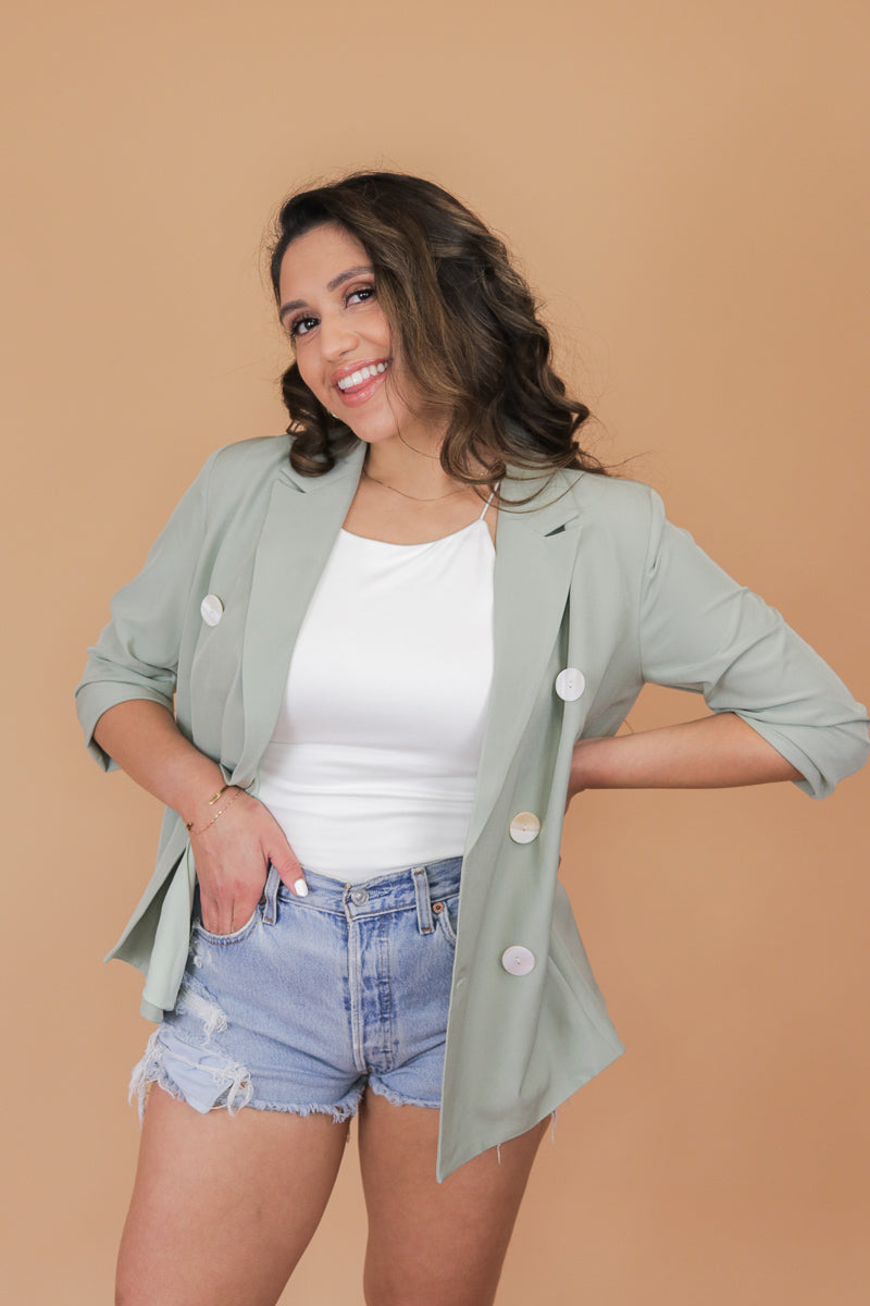 Back To Business Sage Blazer