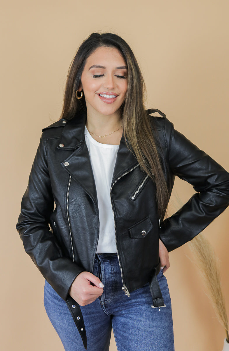Bad To The Bone Black Leather Jacket
