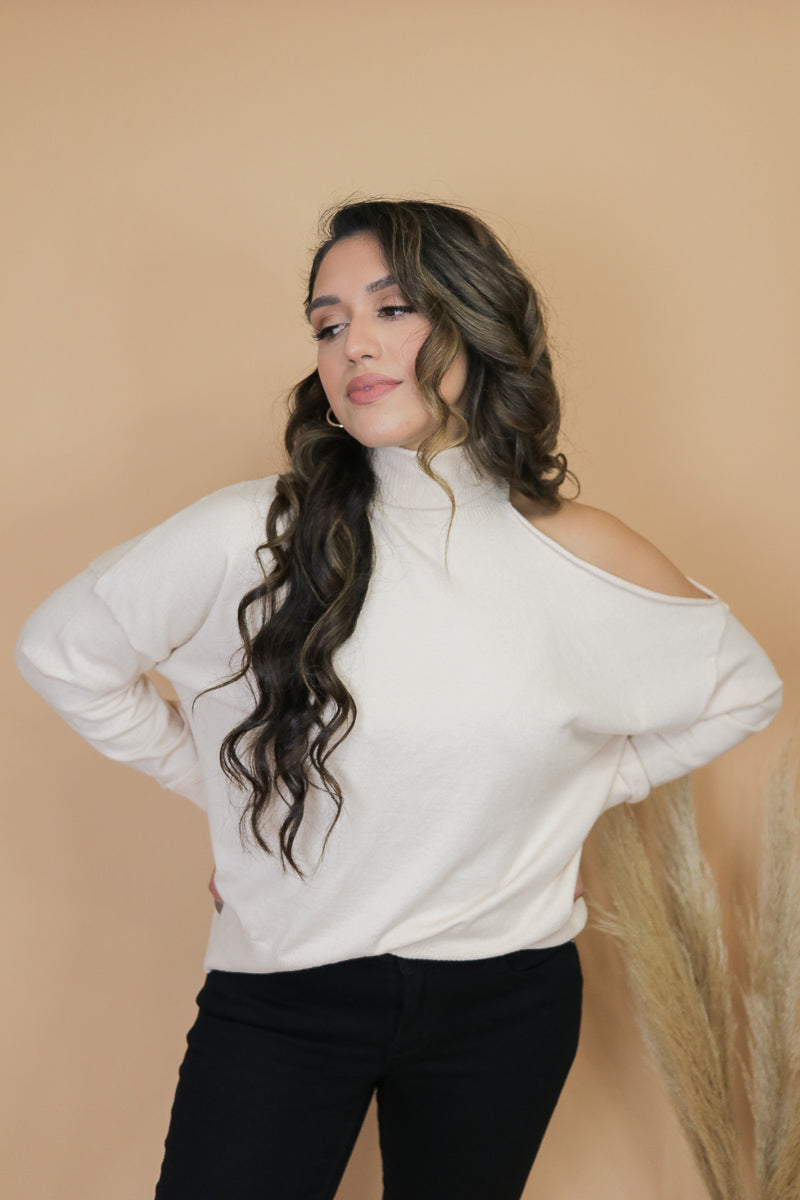 Cream Brûlée Turtleneck Sweater