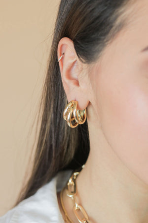 Angelica Triple Hoop Earrings