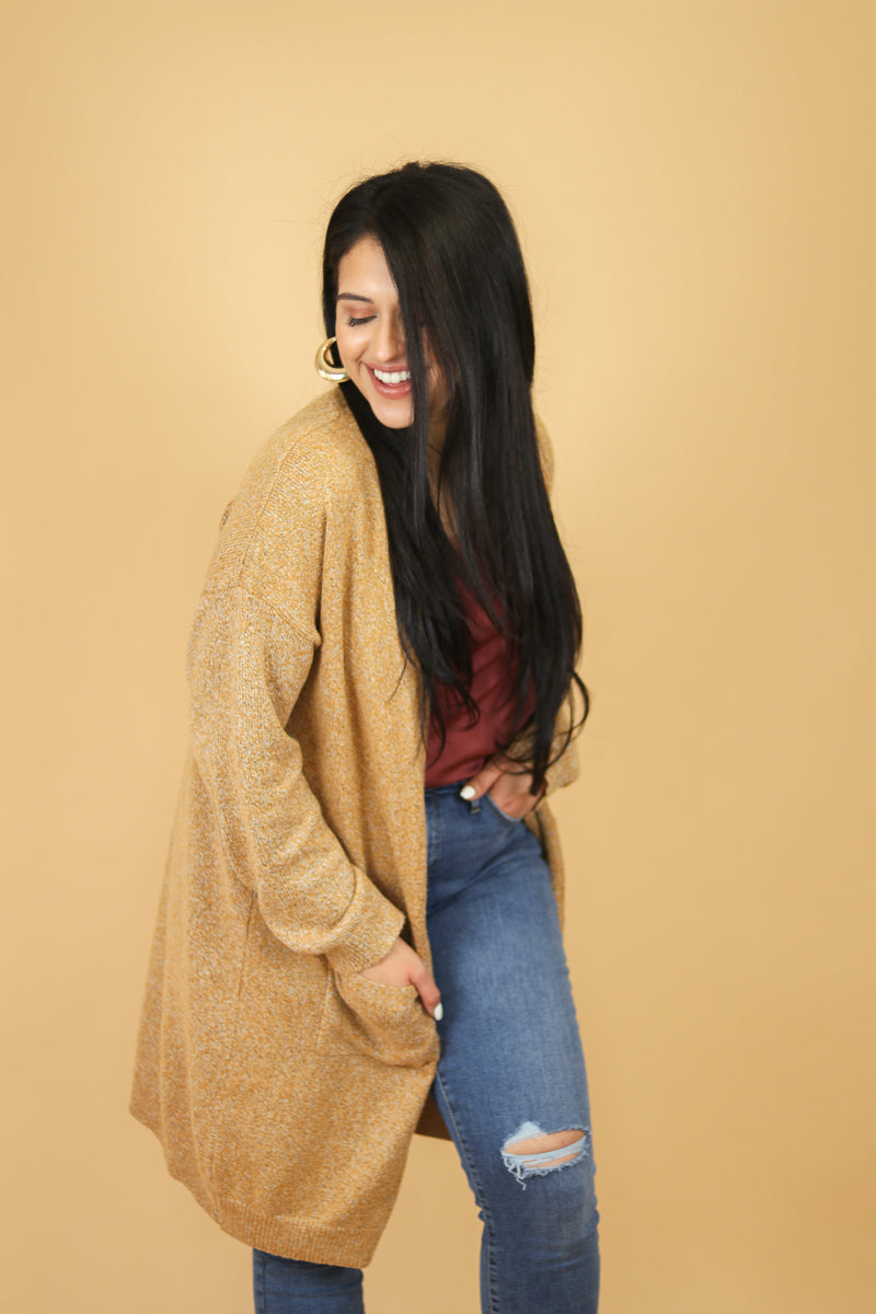 Pumpkin Cold Brew Oversized Cardigan