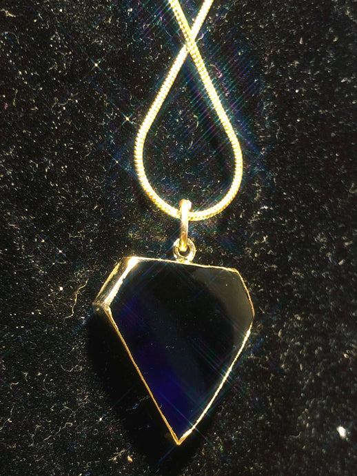 Obsidian Super Man Necklace