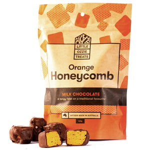 Little Ozzie Treats | Milk Chocolate Orange Honeycomb