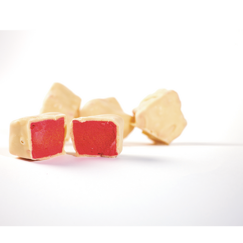 Little Ozzie Treats | White Chocolate Raspberry Honeycomb