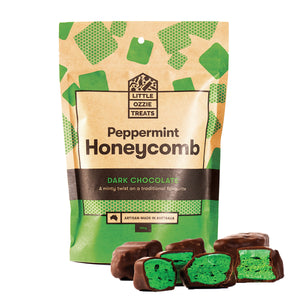 Little Ozzie Treats | Dark Chocolate Peppermint Honeycomb