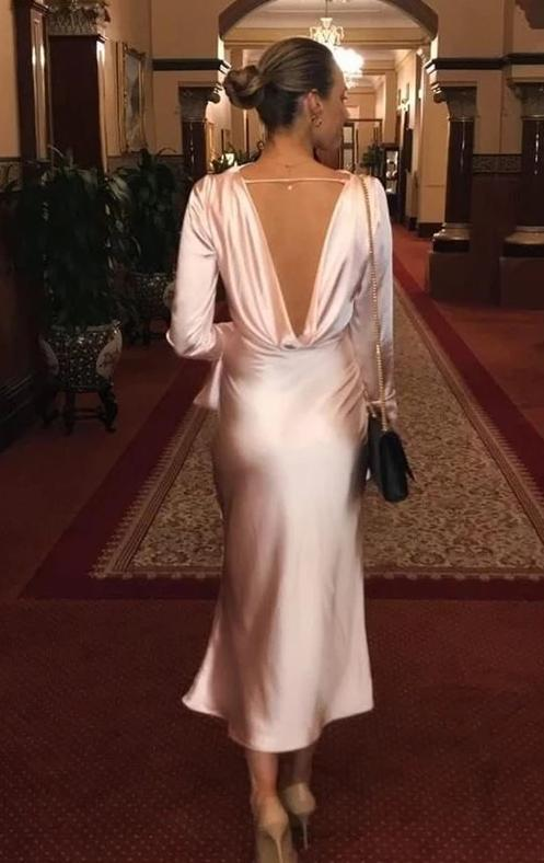 Solid Color Backless Long Queen Shawl Banquet Fishtail Evening Dress - bohosecret