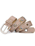 Studded Embroidery Flower Ladies Belt-5color - bohosecret