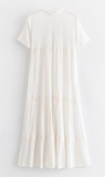 Bohemian White Cloud Lace Midi Dress - bohosecret