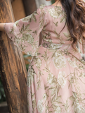 Chiffon Pink Fog Holiday Dress - bohosecret