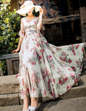 Chiffon Lovers Vacation Floral Dress - bohosecret
