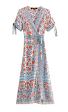 Blue Marigold Bohemian Midi Dress - bohosecret