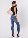 Plus Size Women Pants Embroidered Jeans Bottom - bohosecret
