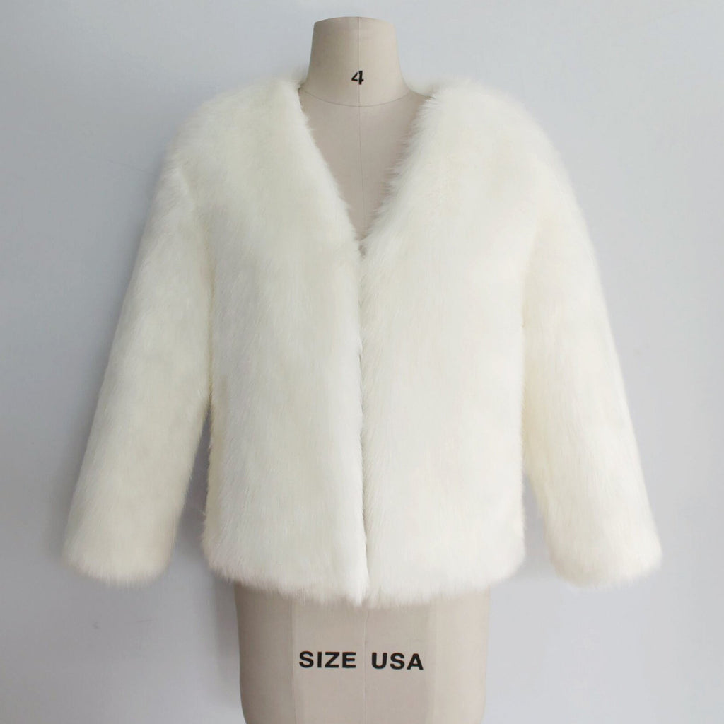 Fashion Pink Faux Fur Coats - bohosecret