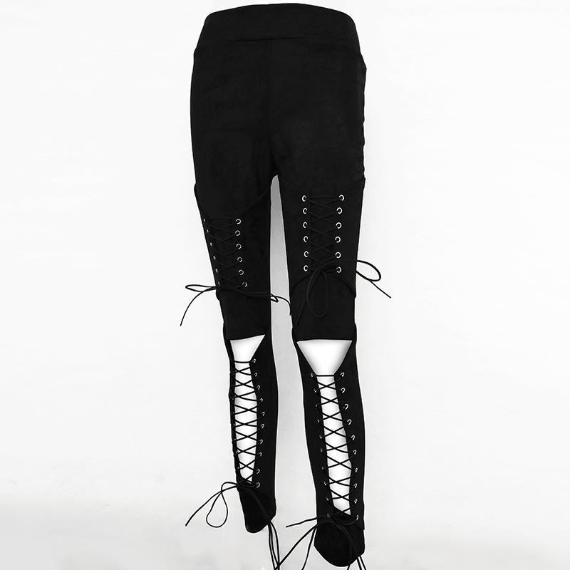 Sexy Lace-up Suede Trousers Pants - bohosecret